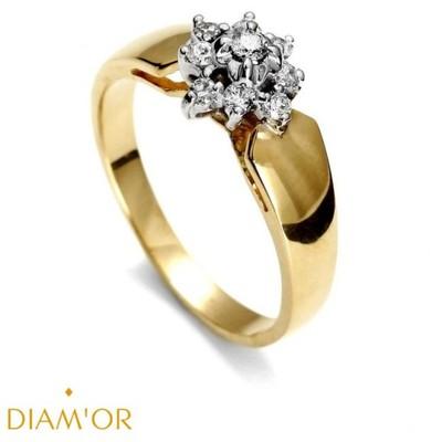 Pierścionek Zaręczynowy Diamor Z Brylantami 141 6951430796