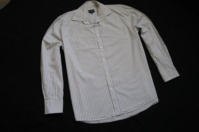 COTTONFIELD koszula biała paski logowana modna__XL
