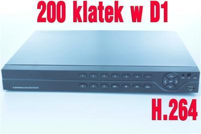 REJESTRATOR 8x VIDEO H.264 D1 LAN ZOOM MONITORING
