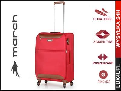 6c8a944e63ad6 MARCH Lekka Walizka na 4 kółkach M walizki 69-80L - 5692121823 ...