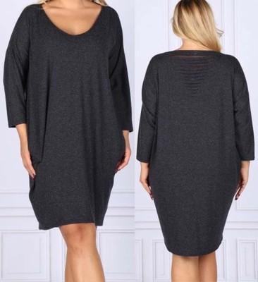 0afee11e29 BOMO dzianinowa sukienka 44 46 XXL XXXL oversize - 6605955594 ...