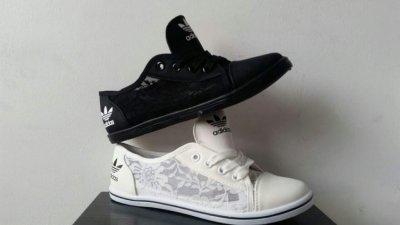 Trampki adidas koronka czarne i białe Polecam!!
