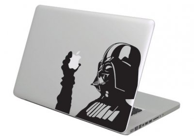 Naklejka na Macbooka Air/Pro Darth Vader ręka