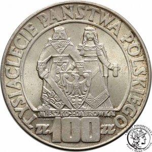 PRL 100 zł 1966 Mieszko i Dąbrówka Millenium st. 1