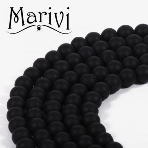 MARIVI   -  ONYKS  MATOWY  KULA   8mm SZNUR