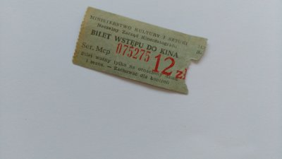 Stary Bilet Wstepu Do Kina Kosmos 1974 6559252584 Oficjalne Archiwum Allegro
