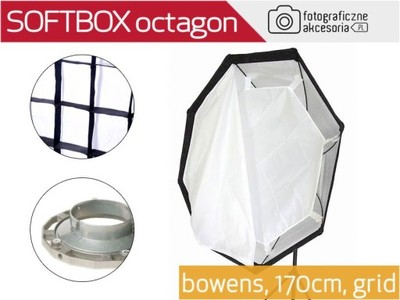 SOFTBOX octagon BOWENS Massa 170cm z gridem Wwa