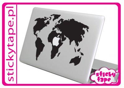Naklejka na MacBooka Maca Apple Mapa Świata