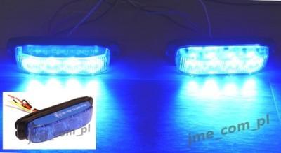 Stroboskopy ostrzegawcze niebieskie 34W R10 R65