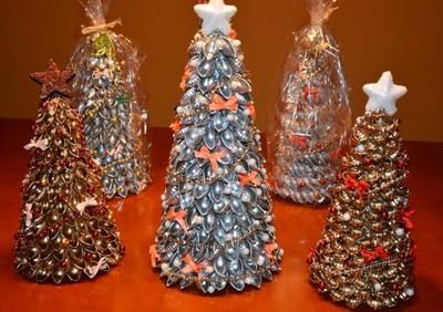 Choinki Ozdobne Z Makaronu Stroik Boże Narodzenie