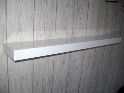 Półka Biała Gruba Połysk 150 X 15 X 36 3138844020