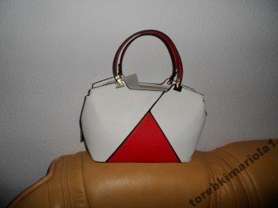 3f897c7fe2686 TOREBKA DAMSKA Biało Czerwona - MARIA C. - 6046185018 - oficjalne ...