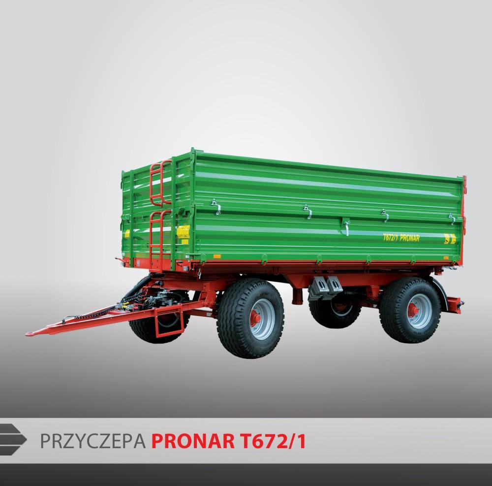 Przyczepa 10ton Dwuosiowa Pronar T672 1 Promocja 7067945319 Oficjalne Archiwum Allegro