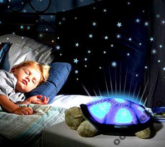 Lampka nocna ŻÓŁW PROJEKTOR Gwiazdy Konstelacje
