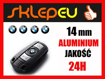 LOGO BMW EMBLEMAT NAKLEJKA ALUMINIUM KLUCZYK 14mm