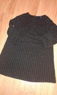 GAP unikatowa sukienka, tunika czarna w kropki