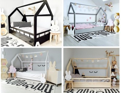 łóżko Domek Różne Wymiary Kolory Barierki Housebed 6900528150