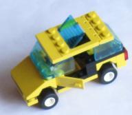 LEGO SYSTEM ŻÓŁTE AUTO Z ZESTAWU 1255