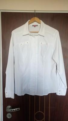 Biała koszula 42 46 wibs jak nowa 7035916090 oficjalne  TXFXX