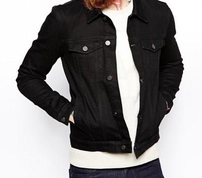 h42 kurtka exASOS jeansowa katana skinny wiosna S