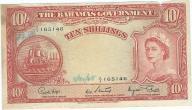 Bahamy 10 shillings 1953r rzadki