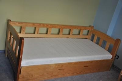 łóżko Drewniane 90x200 Z Barierka 6858623588 Oficjalne Archiwum