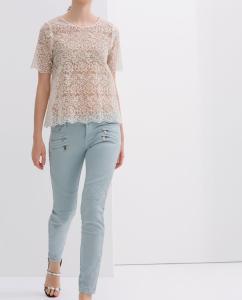 150cc0ec8b3f ZARA Woman spodnie rozmiar 34 błękitne - 6014894940 - oficjalne ...