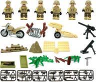 kilof lego i 6x żołnierze komandosi beżowi z motor