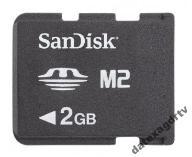 Karta pamięci Sandisk M2 2GB FVAT Gwarancja