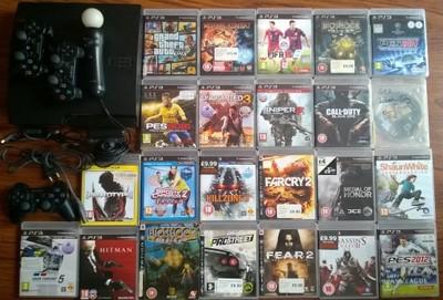 Ps3 Sony Playstation 3 23 Gry3 Padymovekamera 6762088790