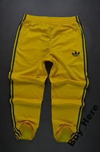 strona internetowa ze zniżką sportowa odzież sportowa najnowszy ADIDAS SPODNIE DRESOWE DRESY ORIGINALS ŻÓŁTE *M*