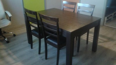 Stol Rozkladany 4 Krzesla Agata Meble Okazja 6464003817