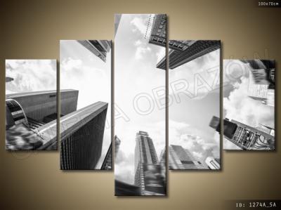 Obraz Tryptyk Obrazy 5 Częściowe 100x70 Miasto 3956387814
