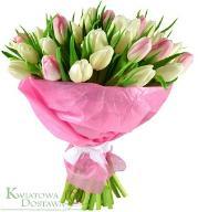 Kwiatowa Dostawa Bukiet Tulipany w różu