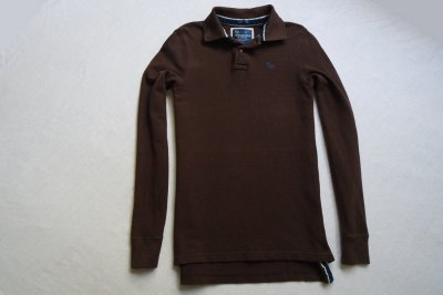 ABERCROMBIE&FITCH koszulka polo bluza brąz_S/M