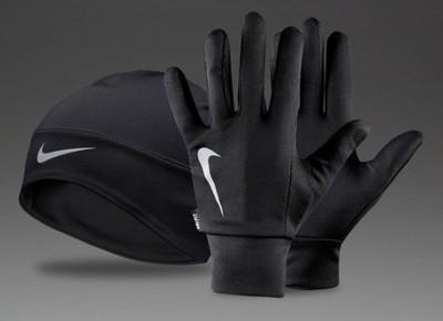 Komplet do biegania NIKE czapka+rękawiczki roz.M