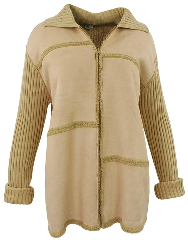 844fef6d14030 gP0583 beżowa ciepła bluza/sweter 50 - 7039515648 - oficjalne ...