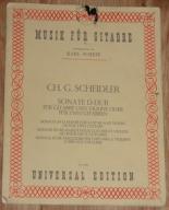 Musik Fur Gitarre __ K. SCHEIT __ CH.G. SCHEIDLER