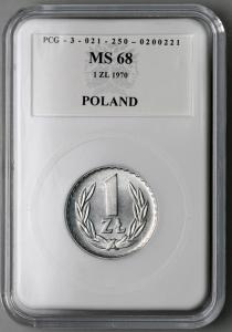 4626. 1 zł 1970 w opakowaniu PCG