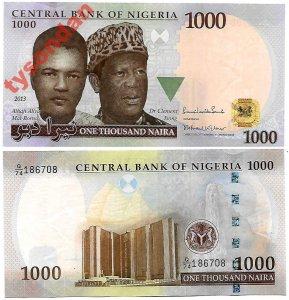 Nigeria 1000 Naira 2017 P 36 Stan Unc Nowość 6398377030