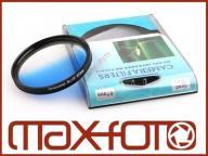 Filtr niebieski połówkowy 72mm do Canon Nikon Sony