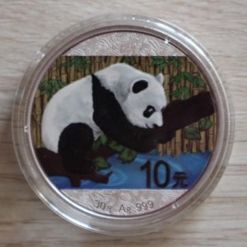 10 YUAN CHINY PANDA 2016-KOLOR -MENNICZA 30 gr. !