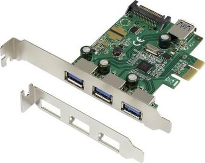 Karta sterownika PCI Express 3+1 port USB 3.0
