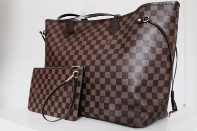 1a36097298004 Torebka Louis Vuitton Neverfull Damier Ebne MM - 6870718562 ...