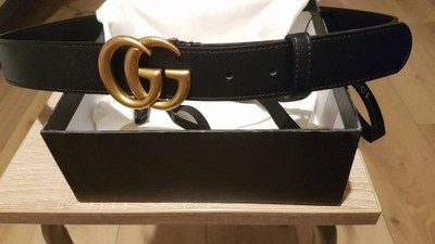 e972bf4208b09 Damski Pasek Gucci Nowy Cienki Złoty #gucci 120cm - 6827851170 ...