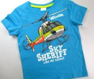 *C&A* __ T-SHIRT __ HELIKOPTER __ turkus _ 116