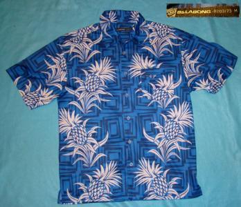 Koszula hawajska tropikalna palmy ananasy L nowa