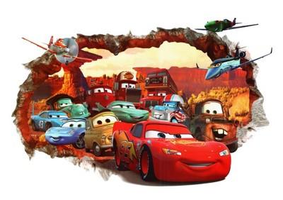 Naklejka Na ścianę Cars Auta Zygzak Efekt 3d 6322047435