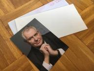 Prawdziwy Oryginalne Autografy - Milos Zeman