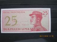 138.  Banknot   Indonezja 25 SEN  UNC